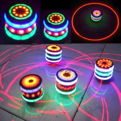 Wholesale Light Music Top - Hot explosion Wood Gyro Gyro Flash Colorful Music Light Wood Top Its Boys Favorite Toys Stall To Give Children The Best Gift