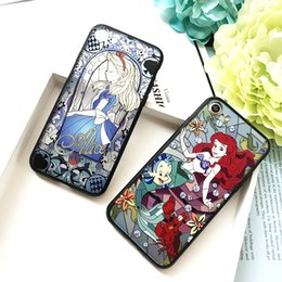 Wholesale Cell Combo - For Iphone7 Plus Cell Phone Case Cartoon Painted Combo Plating Alice Embossed Phone Case For Iphone 7 6 6plus 7plus Plus