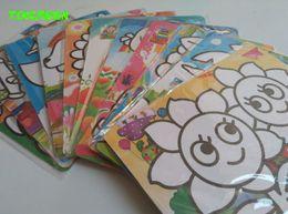 Wholesale Sand Art Sticker Cards - HAPPYXUAN 10pcs lot 15*20.5cm Color Sand Art Sticker Card Painting Set Preschool Educational Drawing Toys for Child
