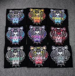 Wholesale Clear Caps - Top quality men women Paris Tiger Hiphop T-shirt woman man cotton Short sleeve T-shirt Tops Tees
