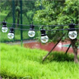 Wholesale Holiday Frosting - 10M 20LED Globe G50 Bulb String Light Clear Milky Bulbs Connectable Vintage Frosted Ball String Light Party Christmas Fairy Light holiday