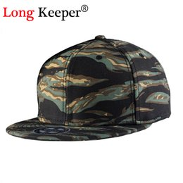 Wholesale Camouflage Caps Hunting - Wholesale- Long Keeper Camo Camouflage Snapback Caps Gorras Planas Hip Hop Hats For Men 6 Panel Baseball Cap Hunting Army Drake Caps