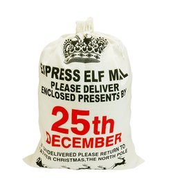 Wholesale Gunny Bags - Christmas Bags For Gifts Decorations Gunny Bags Drawstring Bag Burlap Sack Bag With Snowman Reindeer Santa Wholesale NEW Arrival 2017