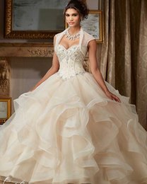 Wholesale Dress 14 Years - New Elegant Gorgeous Ball Gown Quinceanera Dresses 2017 with Crystal Beaded Sweet 16 Dresses For 15 Years Debutante Gown QC279