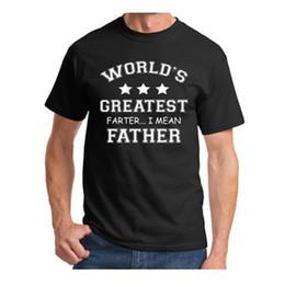 2020 mundos mais engraçados camisetas Atacado- Mens T Shirts Mundos Maior Farter Engraçado Dia Dos Pais Tshirt Novo Presente Do Paizinho Tee Cocô Humor Camiseta Casual Tops de Verão S-XXXL desconto mundos mais engraçados camisetas