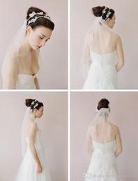 Wholesale Vintage Veil Headband - Twigs & Honey 2016 Wedding Veils Accessories Headbands Tiara 2017 Handmade Flowers Bridal Veil Vintage Dresses of Brides Long Pearls