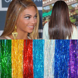 "Wholesale Tinsel Wholesale - 40"" HAIR Tinsel Bling EXTENSIONS Sparkly Highlights Streak Night Out Party Celeb"