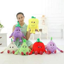 Wholesale Vegetable Toys - 25 35cm kawaii Fruit Series Onion Plush Toys vegetable Pear Cloth Doll Pillow Cushion Children Gift