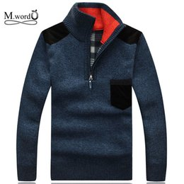 Wholesale fleece turtle neck - Wholesale- 2016 new spring High quality wool men's sweater men half turtle neck long sleeve christmas Casual sweater
