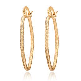 Wholesale High Quality Gold Hoop Earrings - Earrings Jewelry Fashion Women High Quality 18K Yellow Gold Plated Hoop Earrings for Women Wholesale Drop Shipping ER-926