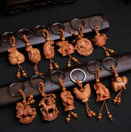 Wholesale Zodiac Key Chains - Brand new Zodiac key holder Taoyu jujube three - dimensional key chain gift pendant KR108 Keychains mix order 20 pieces a lot
