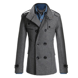 Wholesale Classic British - Wholesale- Trench Coat Men Classic Men's Double Breasted Masculino Trench Clothes Long Jackets Coats British Style Overcoat 3XL Plus Size 2