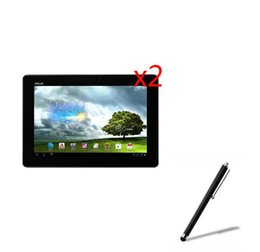 Wholesale Lcd For Asus Memo Pad - Wholesale- 3in1 2x LCD Clear Screen Protector Films Protective Film Guards +1x Stylus Pen For Asus MeMO Pad FHD 10 ME302C ME302KL K005 K00A