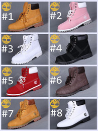 Wholesale Womens Winter Boots Rubber - Brand New Timberland 6-Inch Leather Premium Winter Snow Boots for Women Outdoor Waterproof Red Pink White Womens Ankle Boots Size 36-40
