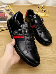 Wholesale Types Flat Shoes - 2017 Genuine Leather luxury brand New design Flat Lace-Up Casual Shoes more types Sneakers Summer For Men running shoes