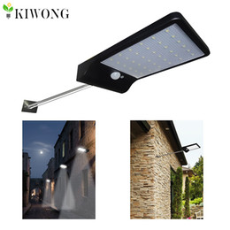 Wholesale Solar Motion Sensor Detector - Wholesale- 36led Solar Light With Mounting Pole Outdoor Motion Sensor Detector Lamp Wall Sconces Lighting for Garden Wall Lamps Lights