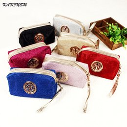 Wholesale makeup style pencil case - Wholesale- 2016 Fashion Makeup Storage Bag Rural Style Floral Pencil Pen Case Cosmetic Bag Good Quality Travel Storage Zipper Bag H8803