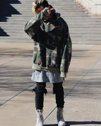Wholesale Hip Hop Camo Clothing - new 2017 FOG hoodies drake mens brand hip hop clothing jacket kanye west oversized camo hoodie streetwear