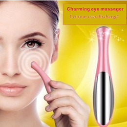 Wholesale device eye dark circles - Portable Electric Thermal Eye Massager Eye Care Beauty Instrument Device Remove Wrinkles Dark Circles Puffiness Massage Relaxation