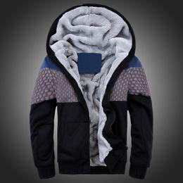 Wholesale Sweatshirt Men Lines - Wholesale-New Arrival Man Fashion Casual Mens Hoodies and Sweatshirts Autumn Winter Thicking Hoody Fur Lining Fleece Hoodies #W0601