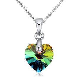 Женские ожерелья кулон ювелирные изделия с кристаллами из элементов Swarovski белое золото покрытием ожерелье короткая цепь Оптовая 25777 от Поставщики оптовая продажа swarovski