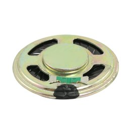 "Ohmios de altavoz online-Al por mayor- 10 X 1.4 ""Diámetro Aluminio Shell Ronda Imán interno Altavoz 8 Ohm 0.5W"