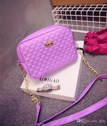 Wholesale Crown Packaging - 2017 new handbag shoulder bag handbag small square package mobile phone package zero purse crown rivet package Lingge spring and sum
