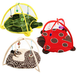 Wholesale Activity Pads - Free shipping Pet Cat Bed Toys Mobile Activity Playing Bed Toys Cat Bed Pad Blanket House Pet Furniture Cat Tent Toys three style