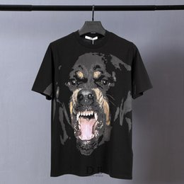 Wholesale Dog 3d T Shirt - Rottweiler 3D T-shirt 74 Star Given Spring Summer Cock Dog Deer Short Sleeve Tees Sanskrit Letters Printing Given Tops Sup Baboon Monkey