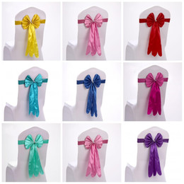 Wholesale Wholesale Fabric For Chair Covers - Chair Covers Sashes Band Top Quality Free Chair Sash Ribbon For Wedding Events And Party Decoration Tie Bands 2 59sk R