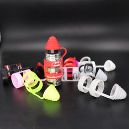 Wholesale Silicone Drip Tip Covers - custom vape band with silicone dust cap Dustproof Prevent Slippery mouth tips cover Universal Sanitary drip tip Cap Antiskid Unbreak Ring
