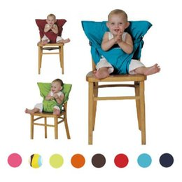 Wholesale Eat Chair Seat - 8 Colors Baby Sack Seats Seat Cover Sack'n Seats Portable Kids Safety Feeding Chair Seat Cover Infant Eat Chair Seat Belts CCA6745 50pcs