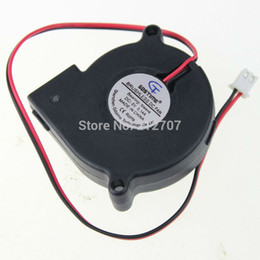 Wholesale Dc Brushless Blower - Wholesale- 1 Pieces lot Gdstime Brushless 5cm 5015S 50 x 50 x 15mm 50mm DC 5 Volt Blower Fan