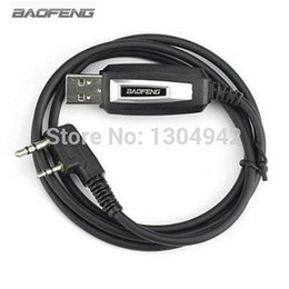 Wholesale Baofeng B6 - Wholesale- Original BAOFENG USB Programming Cable for BAOFENG UV-5R UV-B5 UV-B6 UV-3R+ 888S Two way Radio With Driver CD