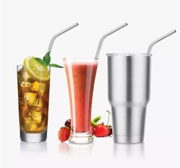 Wholesale Metal Straws Wholesale - 304 Stainless Steel Straw Metal Drinking Straw Beer Juice Straws Kit Fits Yeti Tumbler Rambler Cups