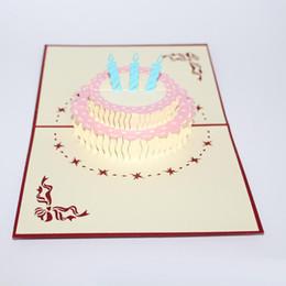 2017 Nuovo 3d regalo di compleanno fatto a mano carta per bambini 3d bella cartolina d'auguri cartolina carino da