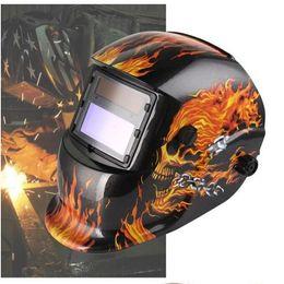 Skull Solar Auto Oscuranti MIG MMA Maschera per Saldatura Elettrica / Casco / Cappuccio per saldatore / Lente per Saldatura per Saldatrice da