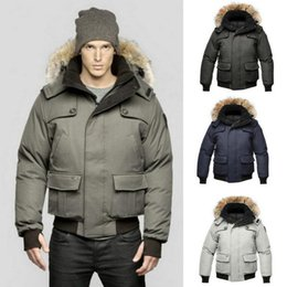 Wholesale Gray Hat Wool - 2017 New arrival Cold winter Jacket men 100% Duck down Male Down jacket Gray Overcoat Very warm Snow anorak Quality assurance