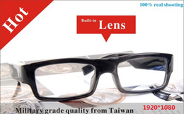 Wholesale Digital Eyewear Camera - HD 1080P Spy Glasses Camera DVR Digital Video Recorder Eyewear Cam CMOS Sunglasses camera Camcorder without any pin--hole in front