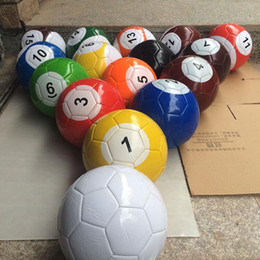 Wholesale Football Ball Games - 3# 7 Inch Inflatable Snook Soccer Ball 16 pieces Billiard Ball Snooker Football For Snookball Outdoor Game Gift Free Shipping ZA3854