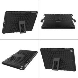 Wholesale Armor Tire - Combo Kickstand Armor Case Hybrid Tire Pattern PC TPU Shockproof Cover for New iPad 2017 9.7Inch