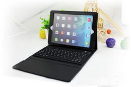 Wholesale Apple Ipad Leather Case Keyboard - Hot sale 2 in 1 Detachable Bluetooth Keyboard Cross PU Leather Case with Wake up Sleep Function for iPad Mini 1 2 3 4 Pro 9.7 ipad Air 1 2