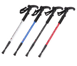 Wholesale Telescopic Handles - Outdoor mountaineering sticks walking hiking special cane ultra - light mountaineering sticks three telescopic AT7552