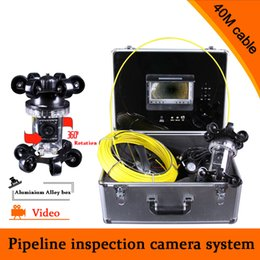 Wholesale System Pipe Inspection - (1 set) 40M Cable industrial endoscope underwater video system pipe wall inspection system Sewer Camera DVR waterproof HD 700TVL