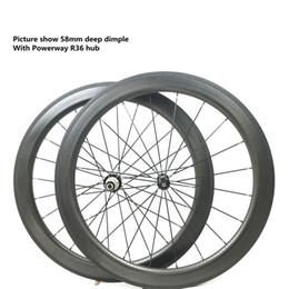 Wholesale Bike Carbon Wheels Sale - hot sale 700c dimple surface carbon wheelset light weight dimple carbon wheels 45mm depth carbon road bike wheels