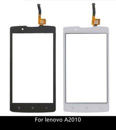 "Wholesale Touch Screen Cell Phone Parts - Wholesale- High quality 4.5"" Replacement Part For Lenovo A2010 Cell Phone Lens Digitizer Touch Screen Glass Panel A2010 Touchscreen Sensor"