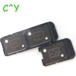 Wholesale Dual Sim Card Holder - High quality For Sony Xperia C5 Ultra XA SIM Card Tray Holder Slot Sim Card Reader Single & Dual Sim