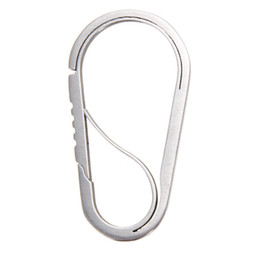 Wholesale Family Clips - Wholesale-Polished Stainless Steel EDC Key Ring Carabiner Hook Buckle Anti-theft Outdoor Belt Clip Keychain Bottle Opener Camp Equipment