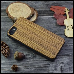Wholesale Iphone5 Cases Wooden - Wood Case For iPhone 7 6 7Plus Bamboo Carving Natural Genuine Phone Cases For iPhone5 5S SE Zebra Wooden protection Hard Back Cover