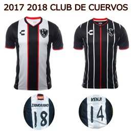 Wholesale Crows Foot - 2017 2018 CLUB DE CUERVOS soccer Jersey 17 18 Liga MX home away football shirts top thai quality Crows Maillot de foot